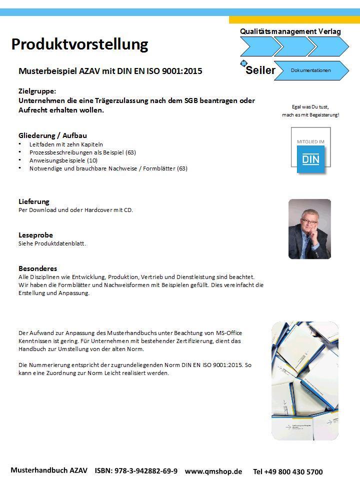 Mustervorlage zur AZAV inkl. DIN EN ISO 9001:2015