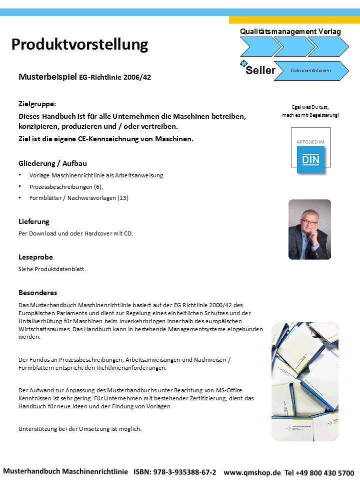 Mustervorlage Maschinenrichtlinie nach EG-Richtlinie 2006/42