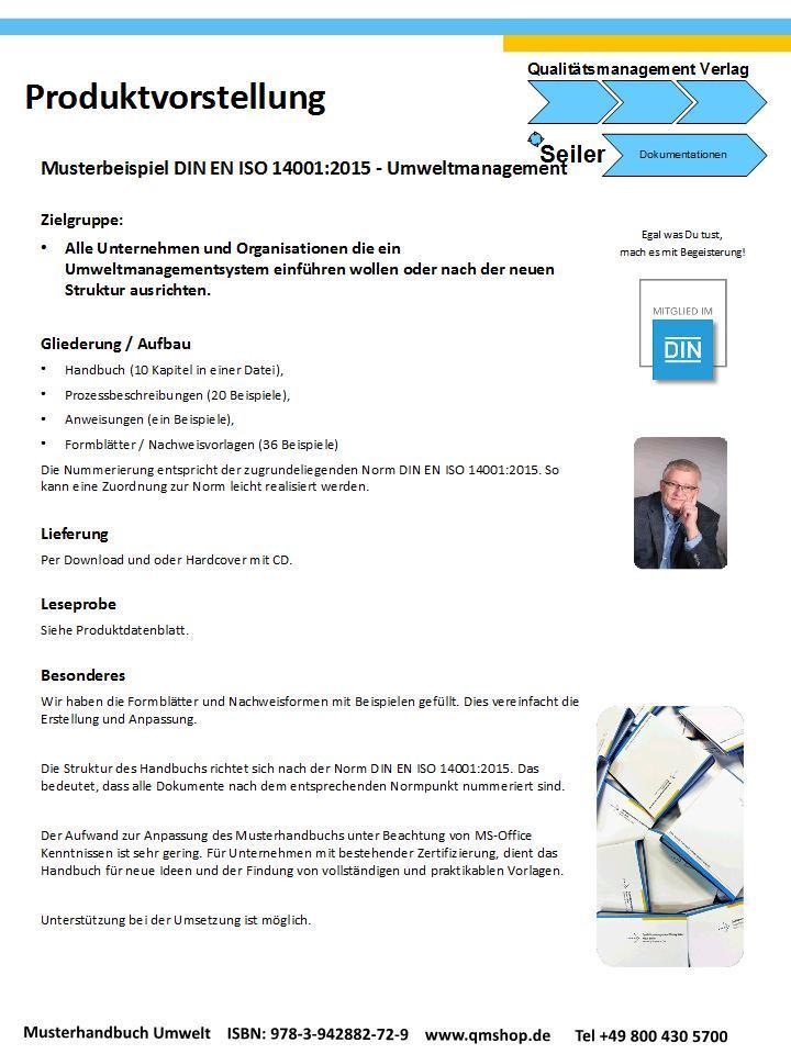 Mustervorlage Umweltmanagement nach DIN EN ISO 14001:2015